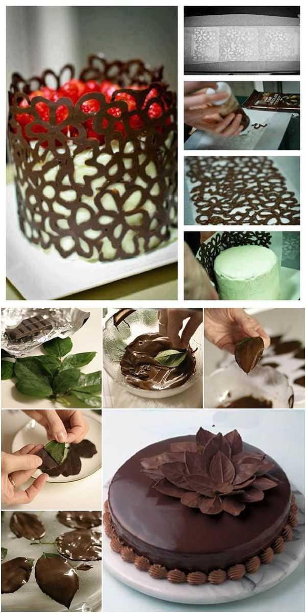 Как украсить торт красиво: фото и видео мастер классы по оформлению фруктами, кремом и шоколадом