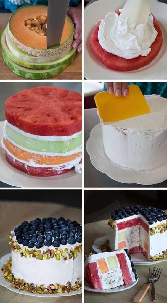 Быстрое декорирование домашнего торта